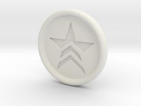 Mass Effect Renegade badge in White Natural Versatile Plastic