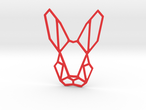 Mr. Rabbit Wall Decoration in Red Processed Versatile Plastic