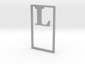Bookmark Monogram. Initial / Letter  L  in Aluminum