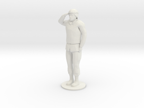 Male Soldier Salute in White Natural Versatile Plastic