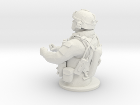 Tank Gunner 1/7 in White Natural Versatile Plastic