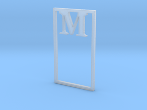 Bookmark Monogram. Initial / Letter M  in Smooth Fine Detail Plastic