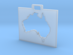 Australia Keychain in Smooth Fine Detail Plastic