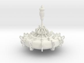 Ornate Top in White Natural Versatile Plastic