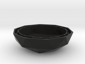 MGD-20: Plant-Pot for Mini Greenhouse-Dome in Black Natural Versatile Plastic