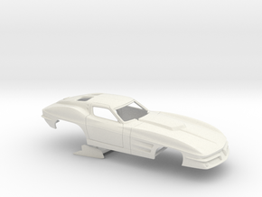 1/12 1963 Pro Mod Corvette No Scoop in White Strong & Flexible