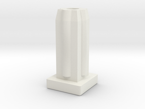 Square Tube Plain in White Natural Versatile Plastic