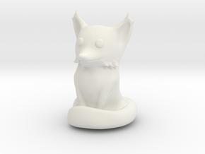 Cute Sandstone Fox in White Natural Versatile Plastic
