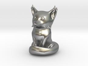 Cute Sandstone Fox in Raw Silver