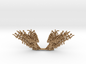 Parametric Necklace v.1 in Polished Brass