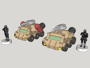 6mm Bromely Recce Vehicle (12pcs) in White Acrylic