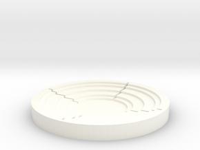 Arc Puck Infinite in White Processed Versatile Plastic