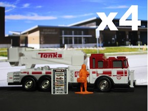 Level A Hazmat Technician x4, 1:64 Code 3 in Orange Processed Versatile Plastic