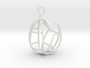 EggClaw Cage 3 in White Natural Versatile Plastic