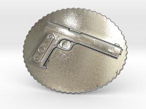 Colt1902 Belt Buckle in Natural Silver