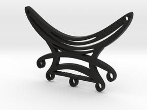 Five Dangles Festoon Pendant in Black Natural Versatile Plastic