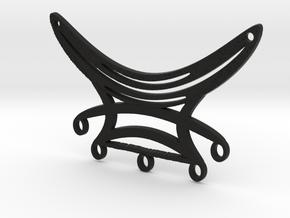 Five Dangles Festoon Pendant Large in Black Natural Versatile Plastic