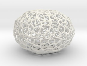 Voronoi Pearl Light Lamp No. 2 (10,5 cm) in White Strong & Flexible