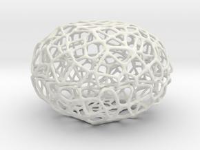 Little Voronoi Pearl Light Lamp No. 3 (8 cm) in White Natural Versatile Plastic