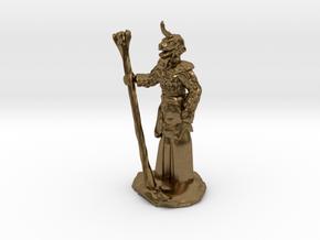 Female Dragonborn Druid in Natural Bronze