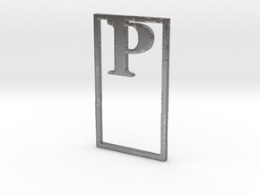 Bookmark Monogram. Initial / Letter P in Natural Silver