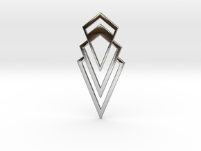 Art Deco Pendant - Valorous in Polished Silver