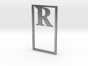 Bookmark Monogram. Initial / Letter R              in Natural Silver