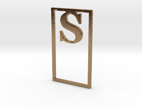 Bookmark Monogram. Initial / Letter S              in Natural Brass