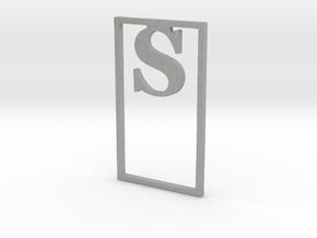 Bookmark Monogram. Initial / Letter S              in Aluminum