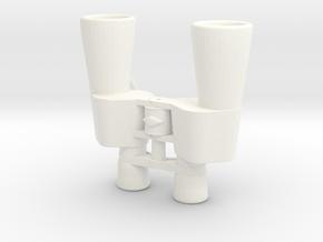 Binocular Pendant in White Processed Versatile Plastic