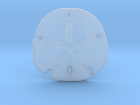 Sand Dollar Pendant in Smoothest Fine Detail Plastic
