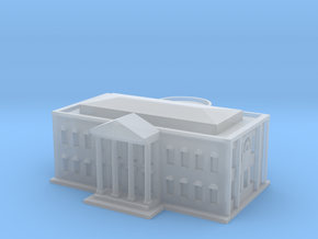 White House (1/1000 Scale Model) in Smooth Fine Detail Plastic