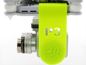 DJI Phantom 3 Lens Cover & Gimbal Lock by HEROPRIN in White Strong & Flexible