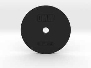 Clay Extruder Die: Circle 001 02 in Black Natural Versatile Plastic