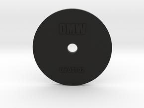 Clay Extruder Die: Circle 001 02 in Black Natural Versatile Plastic
