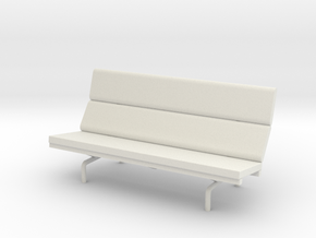 1:24 Eames Compact Sofa in White Natural Versatile Plastic