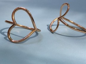 Infinity Heart Ring  in 14k Rose Gold Plated Brass: 8 / 56.75