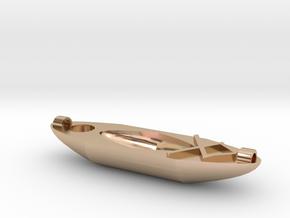 Kayak Ornament in 14k Rose Gold