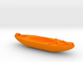Kayak Ornament in Orange Processed Versatile Plastic
