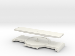 1:50 Turntable for SPMT (NZG) in White Natural Versatile Plastic