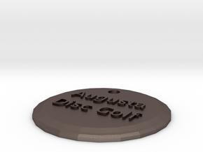 Augusta Disc Golf keychain in Stainless Steel
