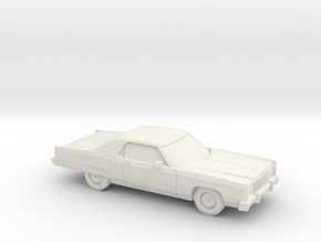1/87 1974 Lincoln Continental Coupe in White Natural Versatile Plastic