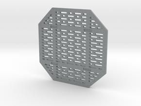DeAgo Falcon Main Hold Floor Pit Single Cover  in Polished Metallic Plastic
