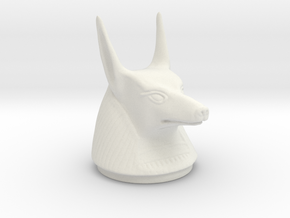 Canopic Jar Anubis Lid in White Strong & Flexible