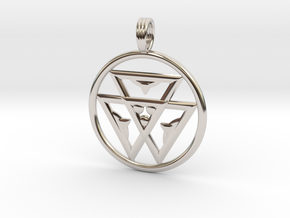 TRINITY LIFE-FORCE in Rhodium Plated Brass