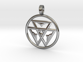 TRINITY LIFE-FORCE in Fine Detail Polished Silver