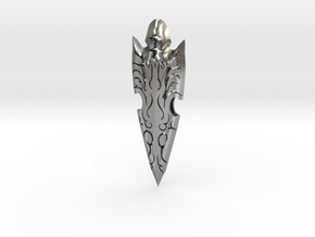 Decorative Arrow Head in Natural Silver