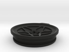 Vossen LC104 30oz Yeti Cup Lid Sealed in Black Natural Versatile Plastic