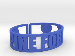 Pine Forest Cuff in Blue Processed Versatile Plastic