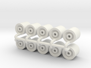 "1/64 26"" Wheels in White Natural Versatile Plastic"
